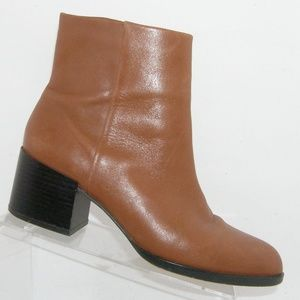 Sam Edelman 'Joey' brown leather zip booties 10M